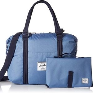 NEW Herschel Baby Sprout Shoulder Diaper Bag Blue